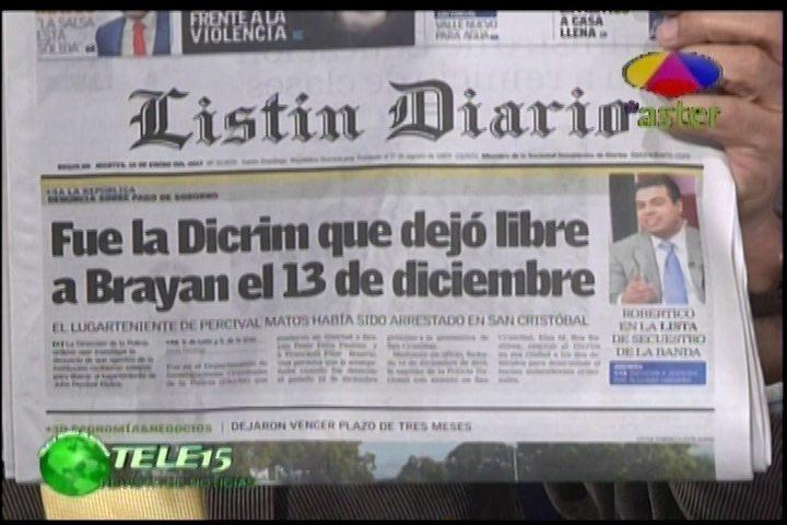 Sólo Ríase: Brayan Fue Apresado El Pasado 13 De Diciembre Pero Dejó Caer Un Dinerito Y Lo Dejaron Libre