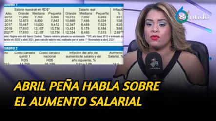 Abril Peña Analiza Con Detalles El Aumento Salarial | 6to Sentido