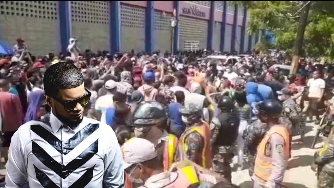 Gran Numero de personas frente al Palacio de SFM en apoyo a Don Miguelo -  Cachicha.com