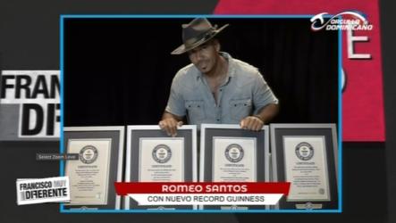 Francisco Sanchís: El Cantante Romeo Santos Bate Cuatro Récords Guinness