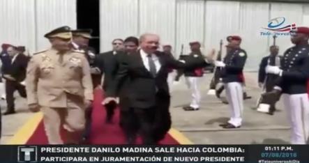 El Presidente Medina Sale A Colombia Para Apoyar Toma De Posesión Del Nuevo Presidente