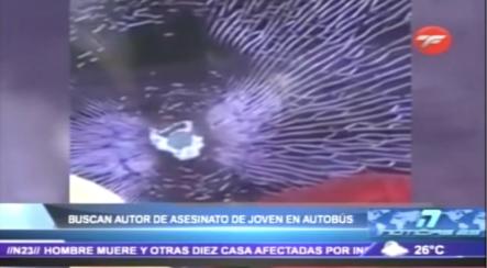 Joven Muere Alcanzado Por Una Bala, En Medio De Una Lluvia De Tiros A Un Autobús