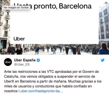 Uber Y Cabify Abandonan Barcelona Por Las Restricciones Del Gobierno Catalán A Sus Servicios