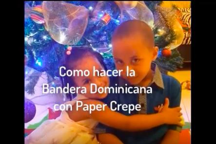Cómo Hacer La Bandera De República Dominicana Con Papel Crepé