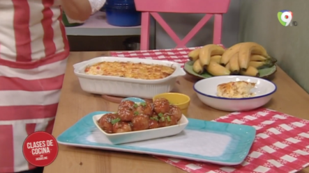 Como Preparar Molde De Arroz Y Albóndigas De Jamón Con Salsa Agridulce Con Jacqueline En Cases De Cocina