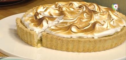 Como Preparar Pie Crema De Almendras Con Suspiro Suizo En Clases De Cocina