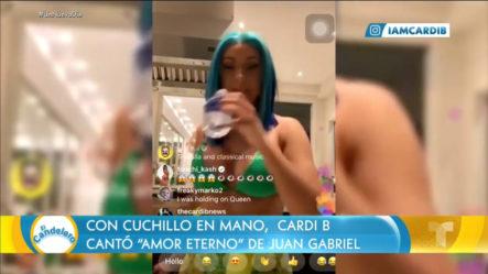 """Cardi B Volvió Locos A Muchos Al Interpretar """"Amor Eterno"""" En Un Live De Instagram"""