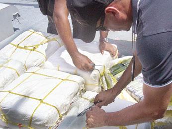 Decomisan casi dos mil kilos de droga en isla Saona