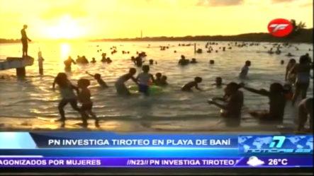 Policía Nacional Investiga Un Tiroteo En Playa De Baní