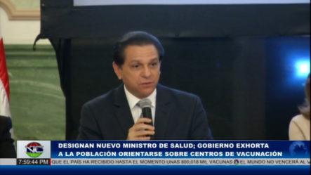Designan Nuevo Ministro De Salud Pública
