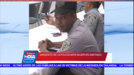 En Santiago Un Sargento De La PN Asesinó A Su Pareja Y Luego Se Suicidó