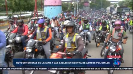 Cientos De Motoconchos Se Lanzan A Las Calles En Protesta Por Abusos Policiales