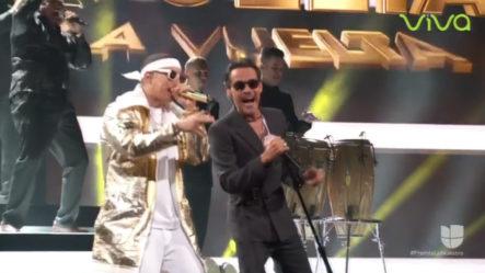 La Mejor Presentación Musical De La Noche Daddy Yankee Y Marc Anthony