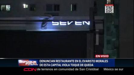Atrapan Restaurante Violando El Toque De Queda