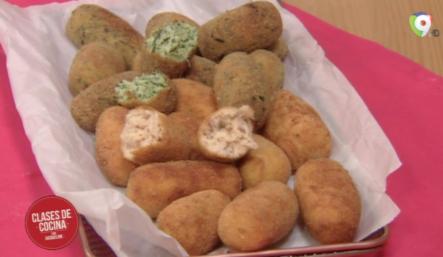 Hoy En Clases De Cocina: Como Preparar Croquetas De Pollo Y Espinaca