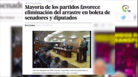 Mayoría De Los Partidos Favorece Eliminación Del Arrastre En Boleta De Senadores Y Diputados