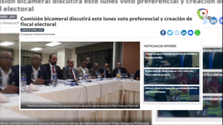 Comisión Bacameral Discutirá Este Lunes Voto Preferencial Y Creación De Fiscal Electoral