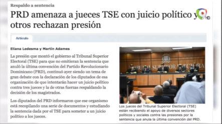PRD Amenaza A Jueces TSE Con Juicio Político Y Otros Rechazan Presión
