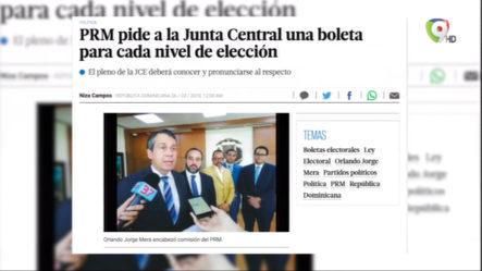 PRM Pide A La JCE Una Boleta Para Cada Nivel De Elección
