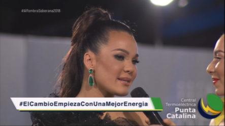 Miralba Ruiz Entrevista  A Luz García  En La Alfombra Roja De Premios Soberano 2018