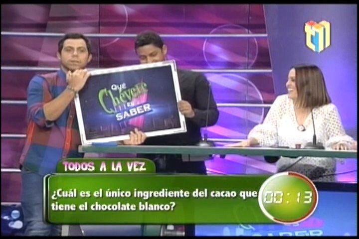Que Chévere Es Saber; Todos A La Vez ¿Cual Es El Único Ingrediente De Cacao Que Tiene El Chocolate Blanco?
