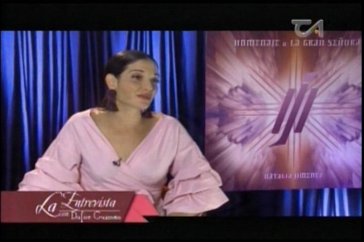 Entrevista A Natalia Jimenez En «A Dos Cámaras»