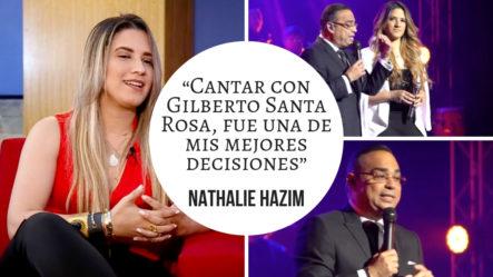 """Nathalie Hazim: """"Cantar Con Gilberto Santa Rosa, Fue Una De Mis Mejores Decisiones""""  -Interview (1/2)"""