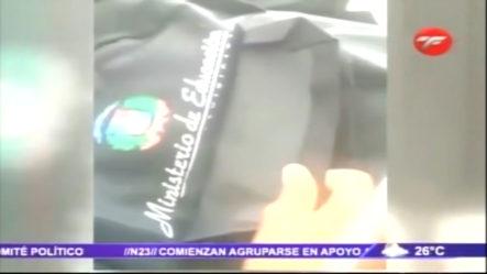 Ministro Andrés Navarro Solicitó La Veracidad En Video De Mochilas Donde Aparece Tapado El Logo Del Ministerio De Educación