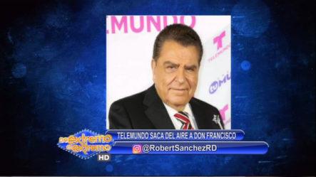 Robert Sánchez Habla De La Salida Del Aire Del Programa De Don Francisco