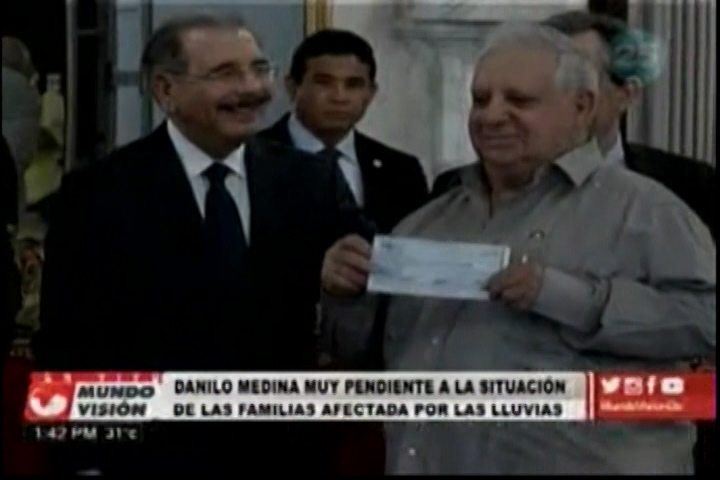 Danilo Medina Muy Pendiente A La Situación De Las Familias Afectadas Por Las Lluvias