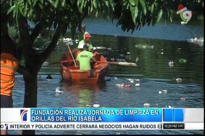 Fundación Realiza Jornada De Limpieza En Orillas Del Río Isabela