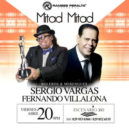 Sergio Vargas Y Fernando Villalona Ofrecerán Concierto De Bolero Y Merengue