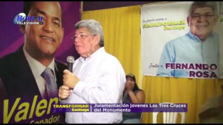 Fernando Rosa Juramenta Jóvenes De Las Tres Cruces Del Monumento En Santiago