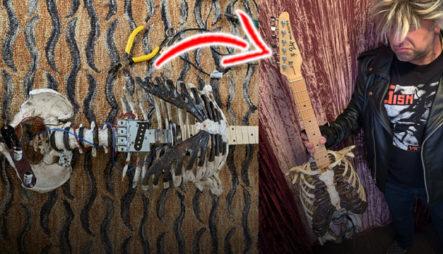 ¡QUÉ LOCURA! Rockero DESENTERRÓ A Su Difunto Tío Para Convertirloen Una Guitarra Eléctrica