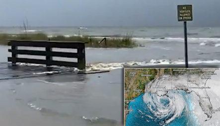 """Empiezan Las Inundaciones En Waveland, Mississippi Tras Aproximación De La Tormenta """"Cristóbal"""""""