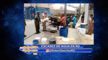 Robert Sánchez Habla Sobre La Escasez De Agua En RD