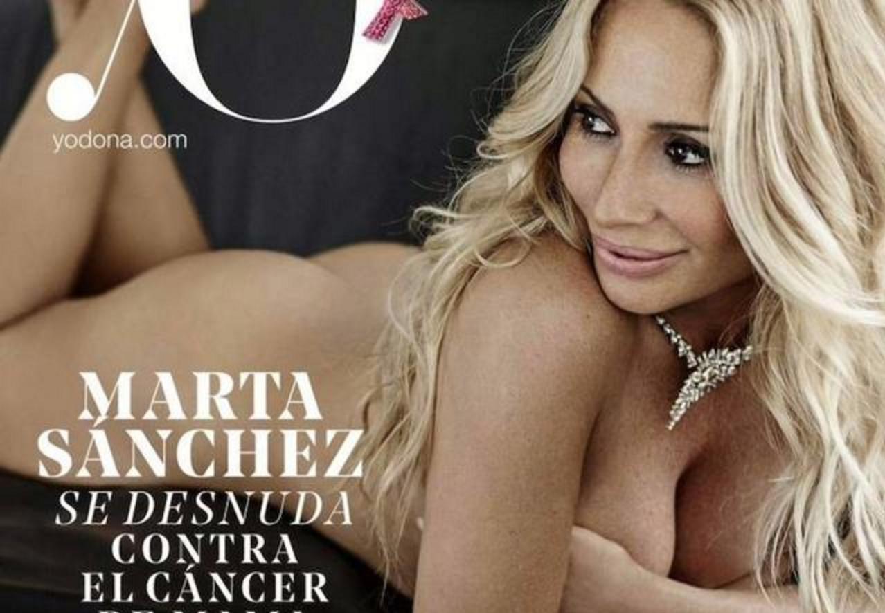 Marta Sanchez Se Quita Toda La Ropa En La Lucha Contra El Cáncer De Mama