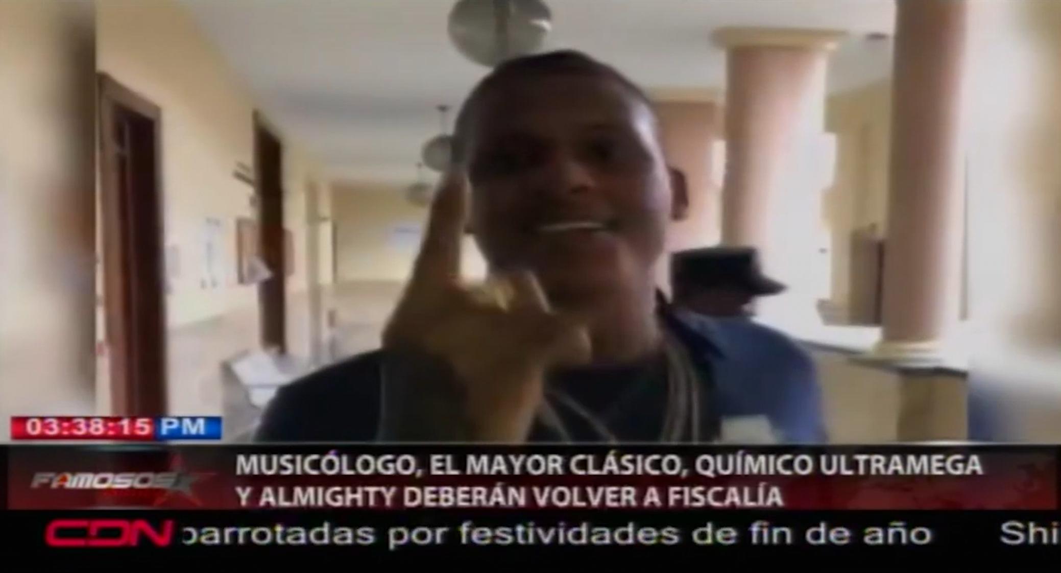 Musicologo El Libro ,Quimico Ultramega, Almighty Y El Mayor Deberán Volver A La Fiscalía Por Copiar Tema Musical Sin Autorización