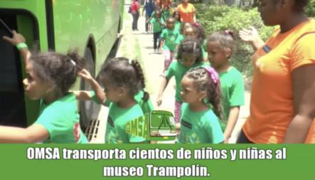 OMSA Transporta Cientos De Niños Y Niñas A Paseo Educativo En Zona Colonial