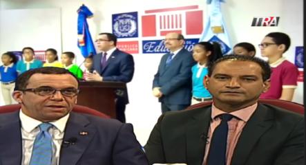 Uniformes Y Pre-Candidatura Presidencial. Entrevista Al Ministro De Educación Andrés Navarro