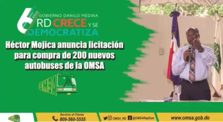 Héctor Mojica Anuncia Compra De 200 Nuevos Autobuses Para OMSA