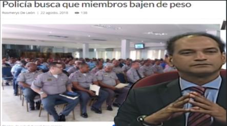 José Laluz: Comenta Sobre Policía Nacional  Que Quiere Que Sus Miembros Bajen De Peso