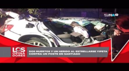 Dos Muertos Y Un Herido Al Estrellarse Yipeta Contra Un Poste En Santiago