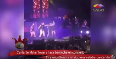 Myke Towers Hace Berrinche En Concierto Tira Micrófono Y Ni Siquiera Estaba Cantando