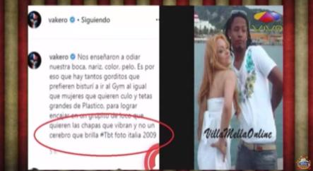 Vakero Publica Un TBT Arruinando A La Materialista. El TBT No Aparece Pues Ya Fue Borrado PERO