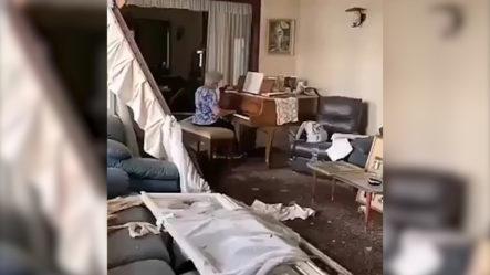 Emotivo Video De Señora Que Toca Piano En Medio De La Sala, Bajo La Explosión De Beirut