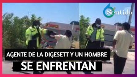 Agente De La Digesett Y Un Hombre Se Enfrentan A Las Trompadas   6to Sentido