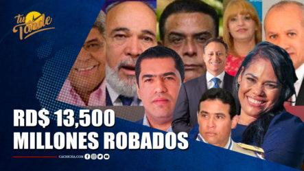 Pulpo, Coral, 13 Y Medusa RD$ 13,500 Millones Robados | Tu Tarde By Cachicha