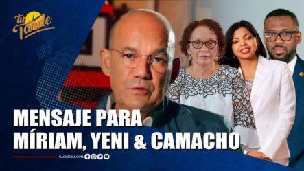 Miguel J. Moya Dice No Ha Cometido Ilícitos Y Deja Mensaje A Míriam, Yeni Y Camacho    Tu Tarde By Cachicha