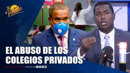 Eduardo Martínez Se Desahogó Sobre El Abuso De Los Colegios Privados   Tu Tarde By Cachicha